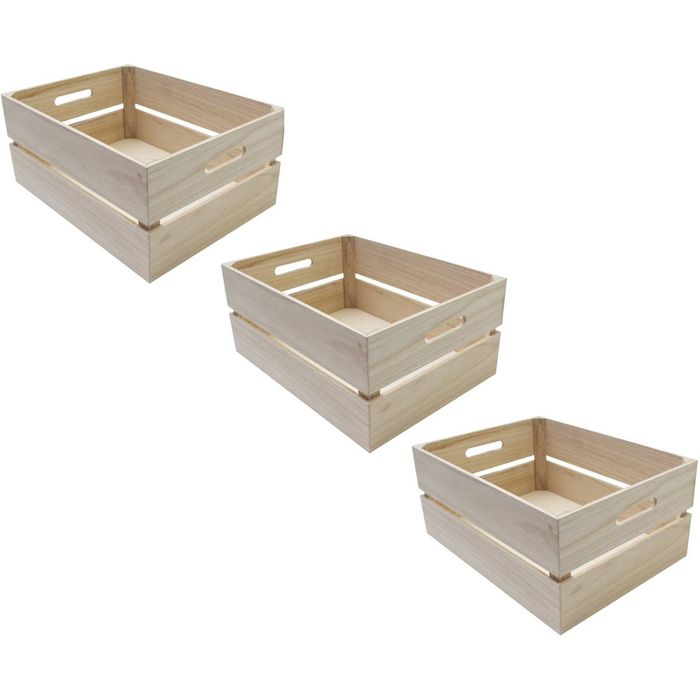 Wooden Crate 3 Pack Bundle