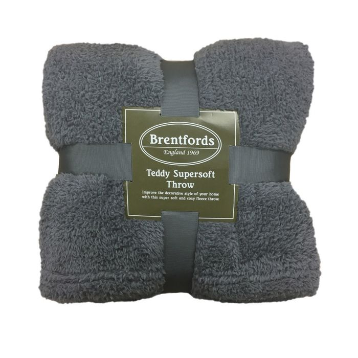 Teddy Bear Fleece Throws Single £6.75, Double £8.50 & King £10.95 Delivered