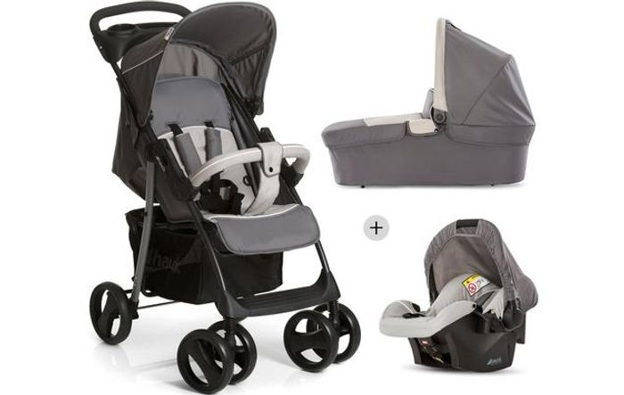 Hauck Shopper Trio Travel System - Stone/Grey Only £99
