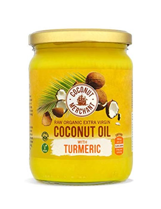 Coconut Merchant Raw Organic Extra Virgin Coconut Oil with Turmeric