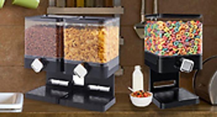 Dry Food Storage Dispenser - 2 Designs Single £6.99 Double £10.99