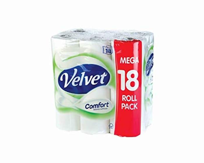 Best Ever Price! Velvet Comfort Toilet Roll (Pack of 18)