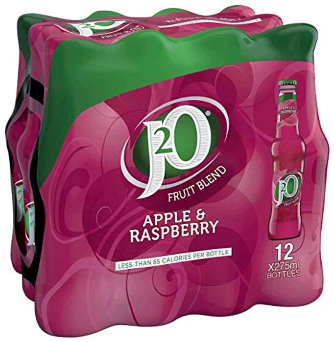 Best Ever Price! J2O Apple and Raspberry Juice Drink, 275ml Bottle (Pack of 12)