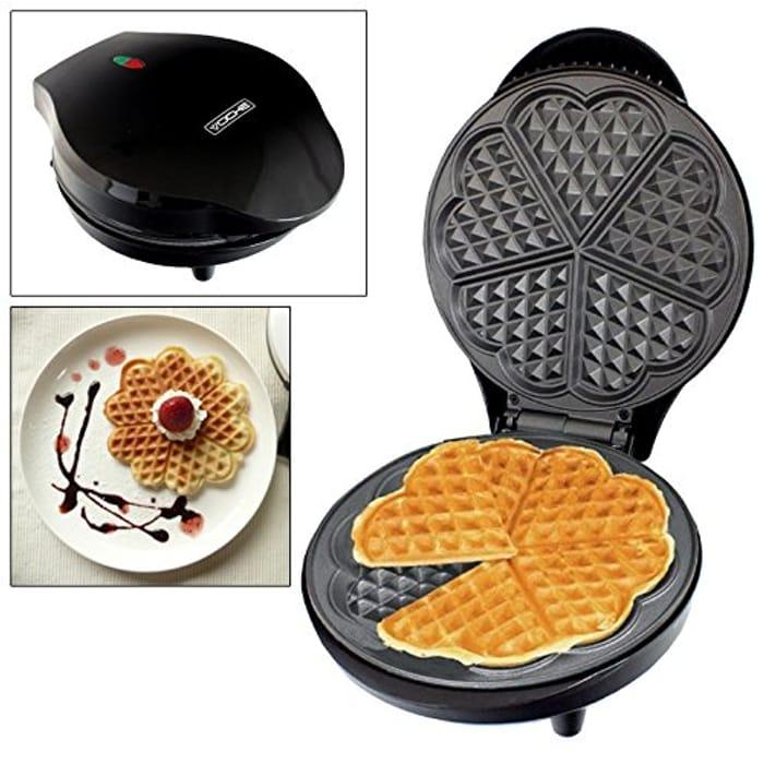 Home Waffle Making Machine Makes 5 Heart Shaped Waffles