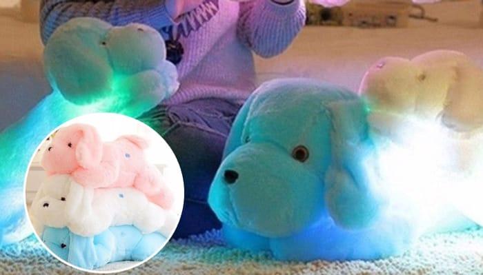 Snuggle-Plush LED Cuddly Night Light - 3 Colours & 3 Sizes