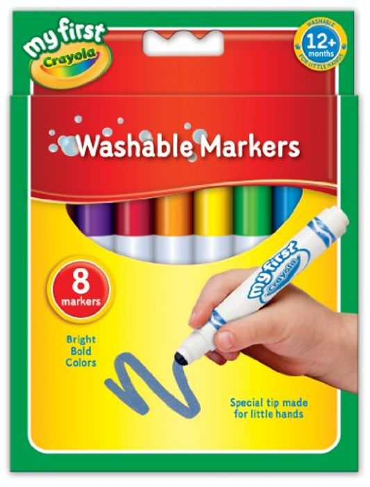 Crayola My First Washable Markers, Pack of 8 at Amazon