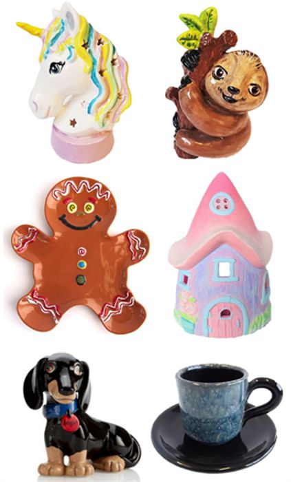 Catalogues Free By Post. Painting Pottery, Ceramics. *All Shown. Phone/email