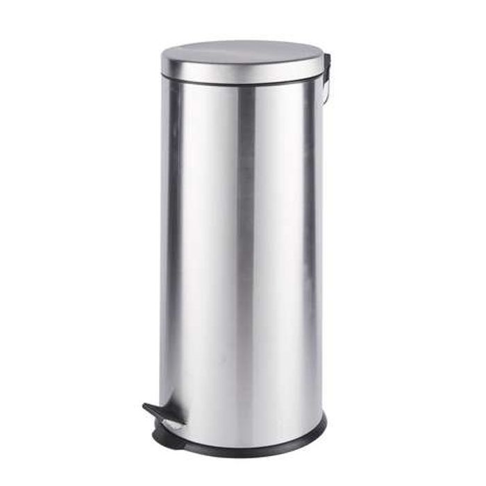 30 Litre Brushed Steel Pedal Bin with £6 discount - Great buy!