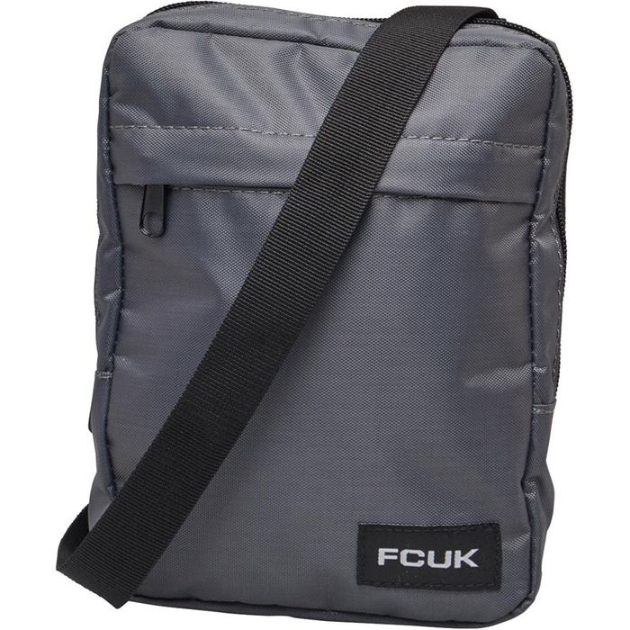 French Connection Mens Nylon Flight Bag Charcoal
