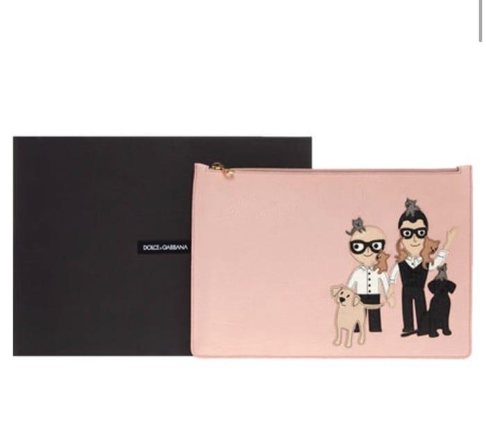 Dolce and Gabbana Pink Clutch