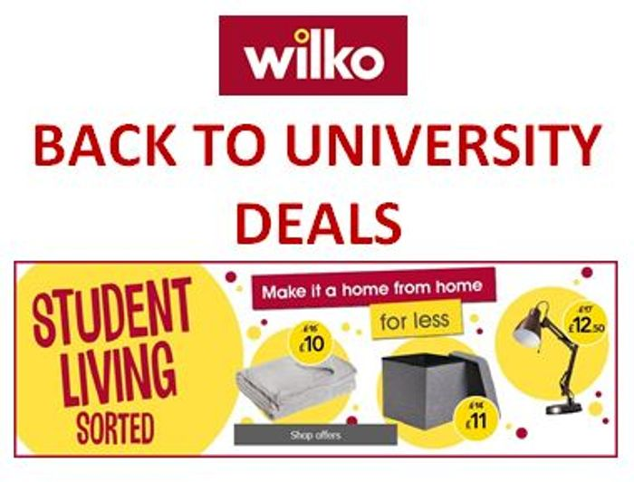 Cheap Uni Student Offers at Wilko