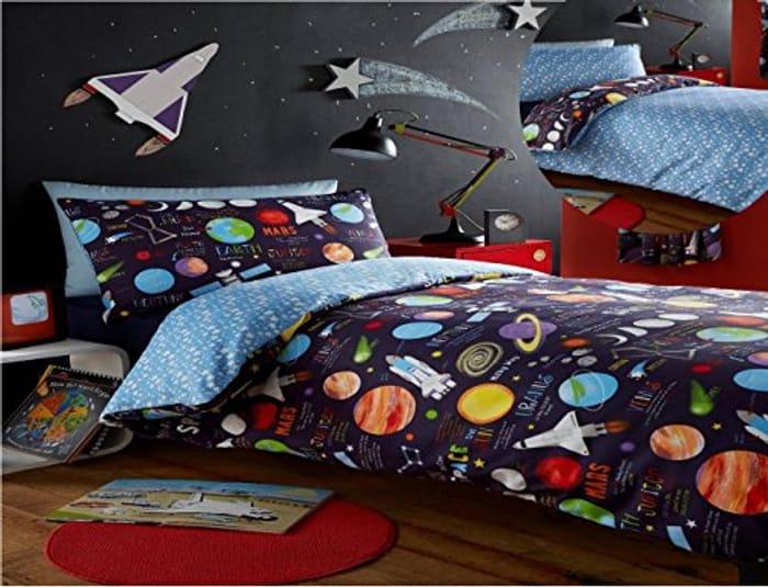 Kidz Club Planets Single Bed Duvet Cover