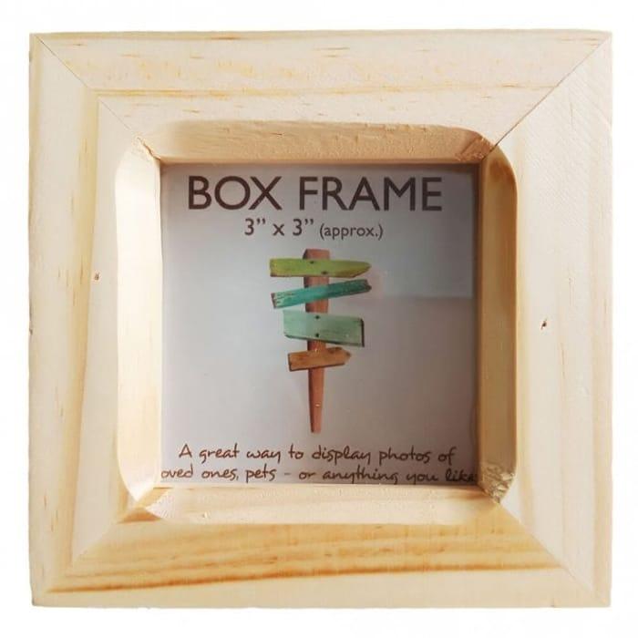 3 X 3 Inch Natural Box Frame save 70%