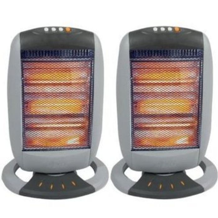 2 X Halogen Heaters + Free Delivery