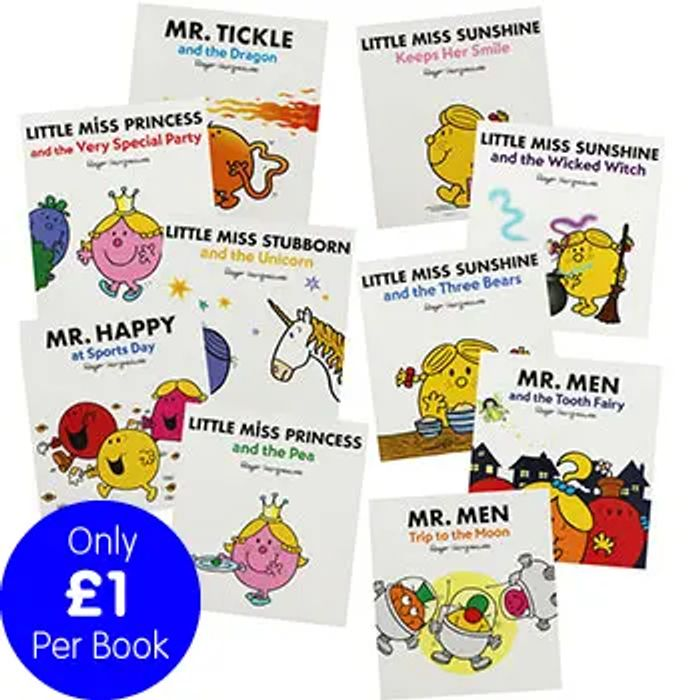 Cheap Little Miss and Mr Men - 10 Picture Books Bundle, reduced by £49.9!