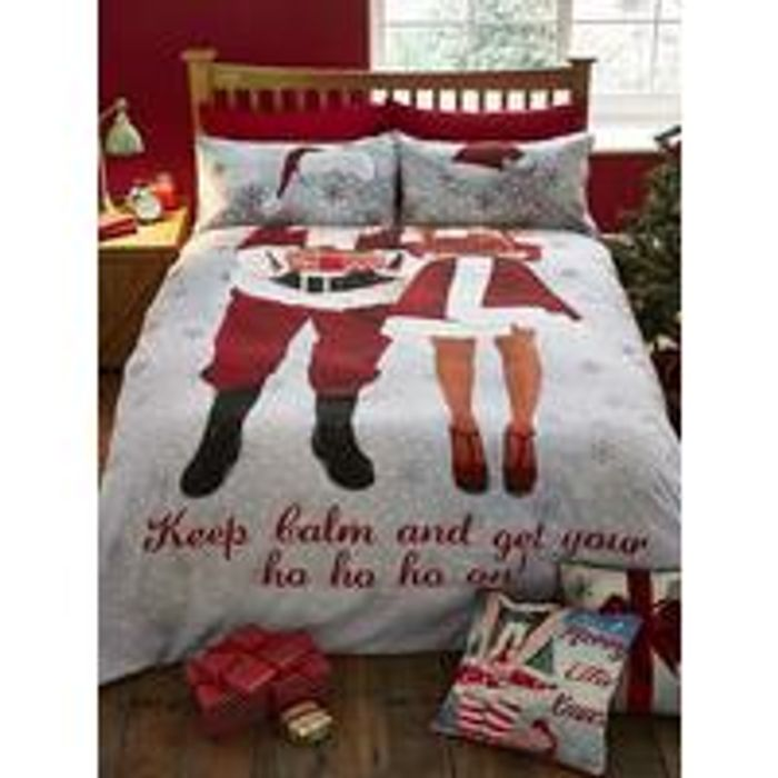 Catherine LansfieldSelfie Santa Christmas Double Duvet Cover Set