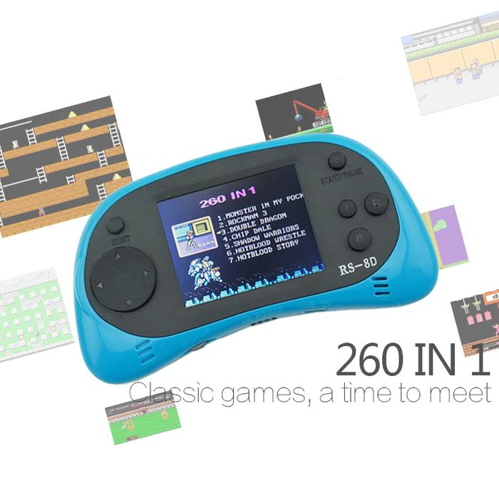 Handheld Game Console (Build in 260 Classic Games)