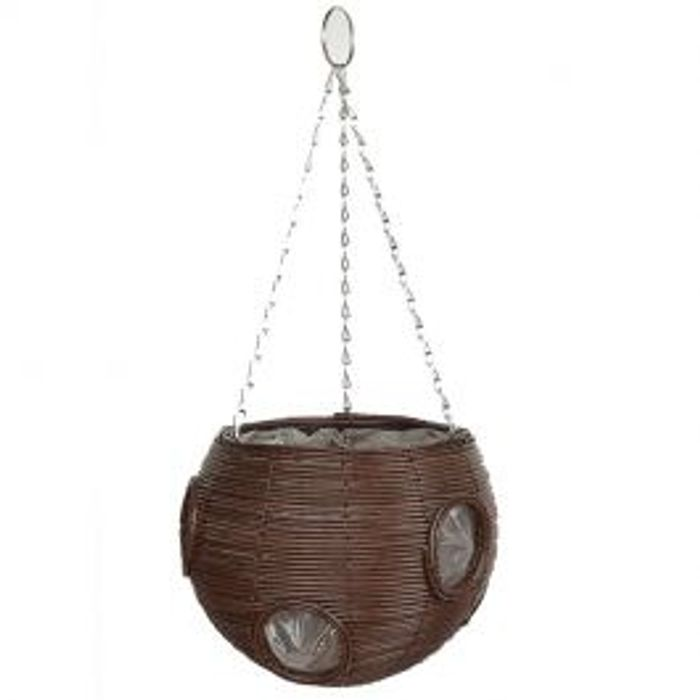 Grow It Brown Rattan Effect Hanging Ball Brown *Different Colours Available
