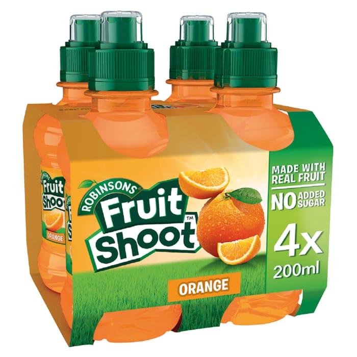 Robinsons Fruit Shoot No Added Sugar 4X200ml