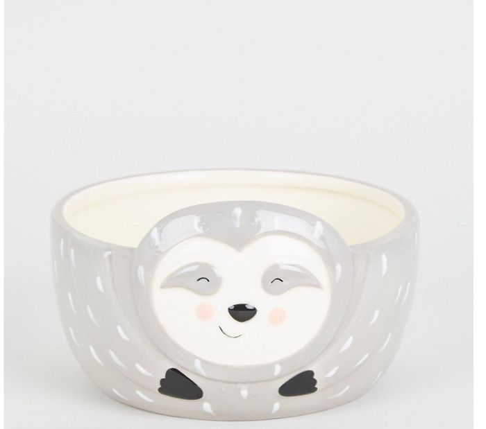 Grey Sloth Face Bowl for £5.99 at New Look