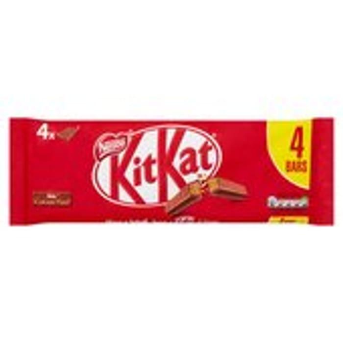 KitKat 4 Finger Milk Chocolate Bar Pack of 4 166g