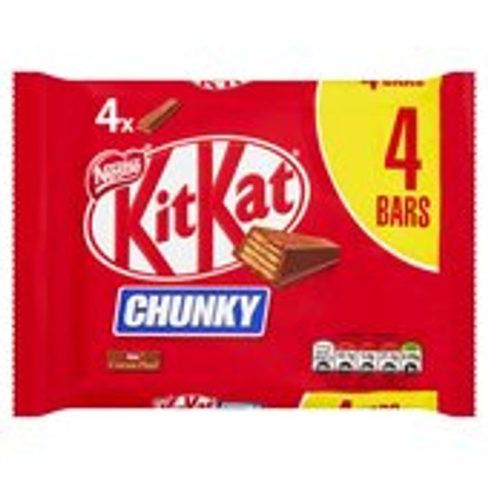 KitKat Chunky Milk Chocolate Bar Pack of 4 160g