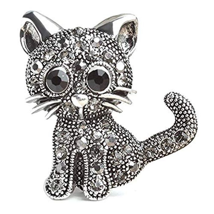 Crystal Cat Brooch 97p Delivered