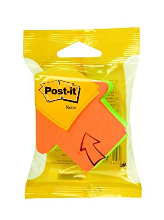 Post-It 534454 Arrow Shaped Notes Pad of 225 Sheets Neon - Orange/Green