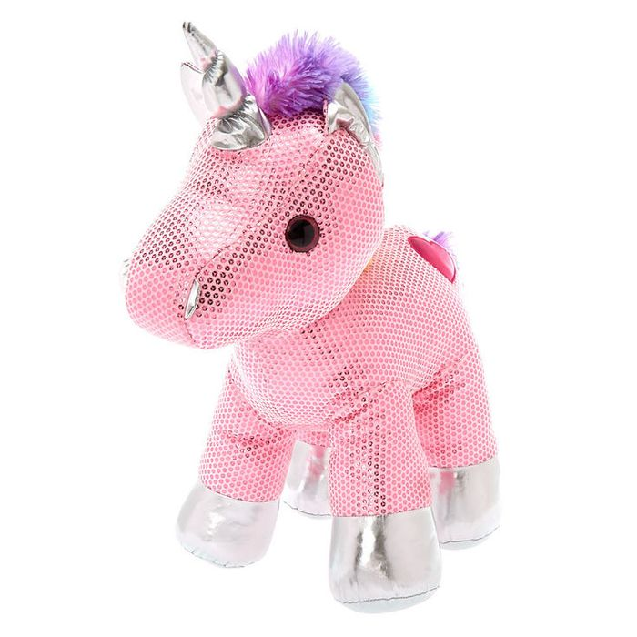 Claire's Club Limited Edition Unicorn Soft Toy - Pink
