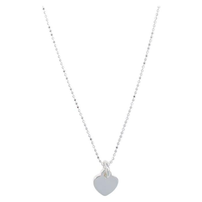 Revere Silver Engravable Heart Pendant 20 Inch Necklace855/7854