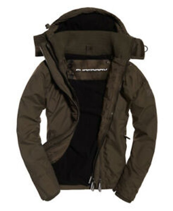 Best Price Mens Superdry Pop Zip Hooded Arctic Sd-Windcheater Jacket Army