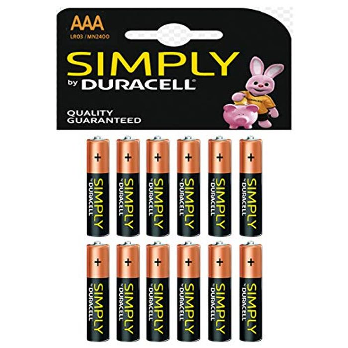 Duracell AAA 2400 Batteries - 12 Pack