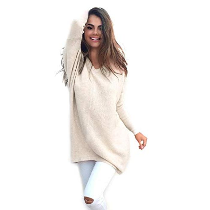 Ladies Casual V-Neck Long Sleeve Sweater