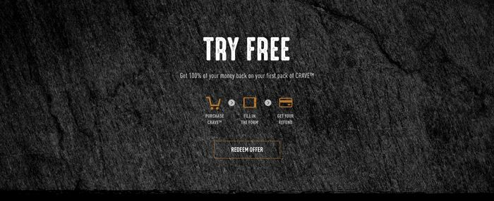 Free Pet Food from Crave (Full-Size). CASHBACK