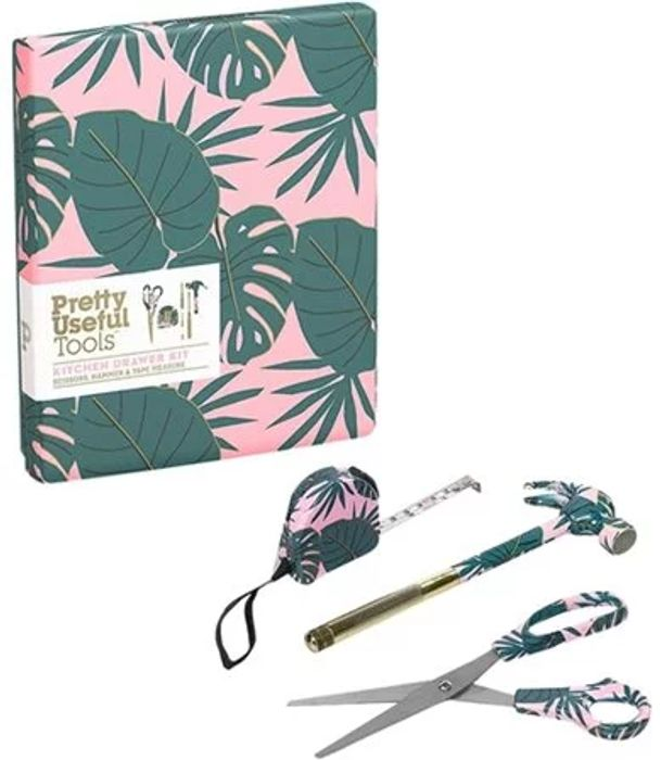 Pretty Useful Tools Kitchen Drawer Kit, Pink Paradise