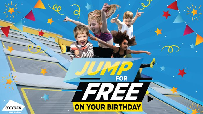 Free Freejump on Your Birthday at Oxygen