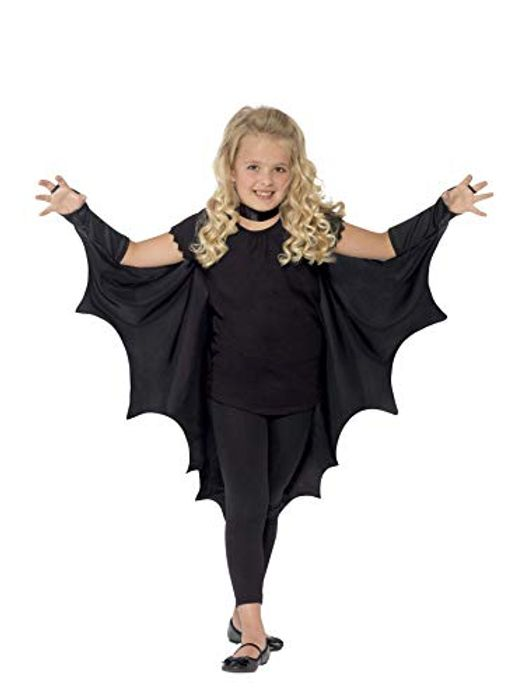 Kids Vampire Bat Costume, Black, One Size