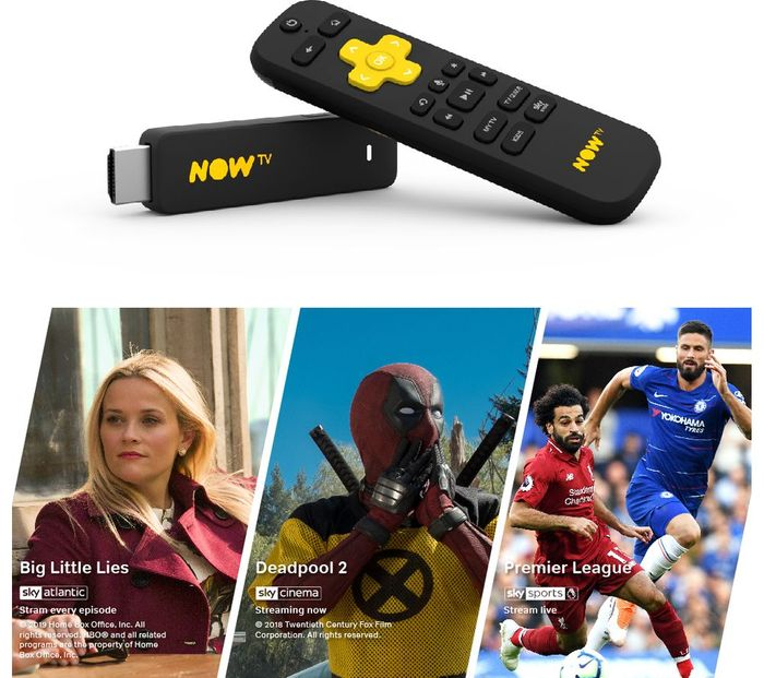 NOW TV Smart Stick with 1 Month Cinema, Entertainment & Sports Pass