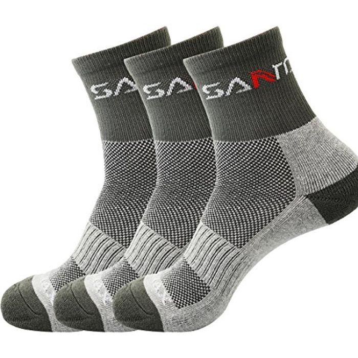 3 Pairs Men's Running Hiking Trekking Camping Outdoor Sport Socks (Size 6-7.5)