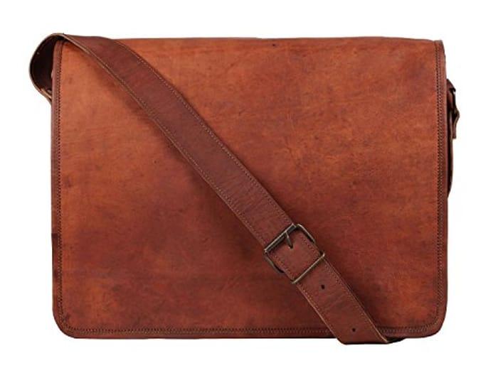 *SAVE over £70* CLASSIC HANDICRAFT Leather Vintage Crossbody Messenger Bag
