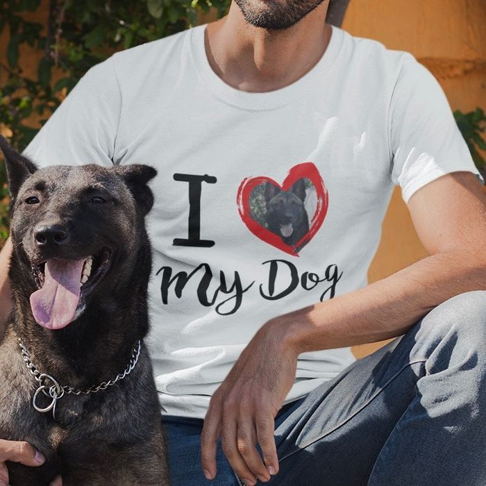 Free 'I Love My Dog' Personalised T-Shirt - With Code