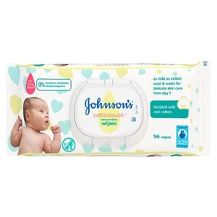 Johnson's Baby Cottontouch Baby Wipes 56 Wipes