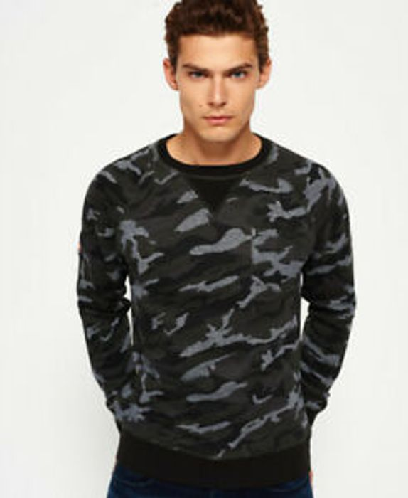 Cheap Mens Superdry Rookie Camo Print Cr Khaki Camo (Small) at Ebay Only 19.99
