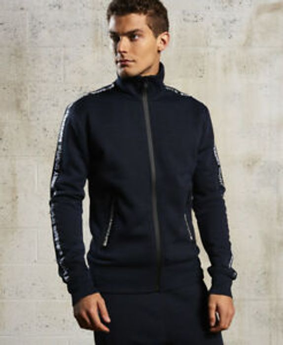 Mens Superdry Gym Tech Track Top Indigo (Small) on Sale From £64.99 to £25.99