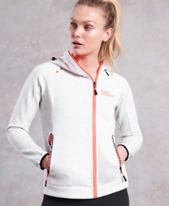 Womens Superdry Celsius Ziphood Light Marl (XS) with 60% Discount - Great buy!