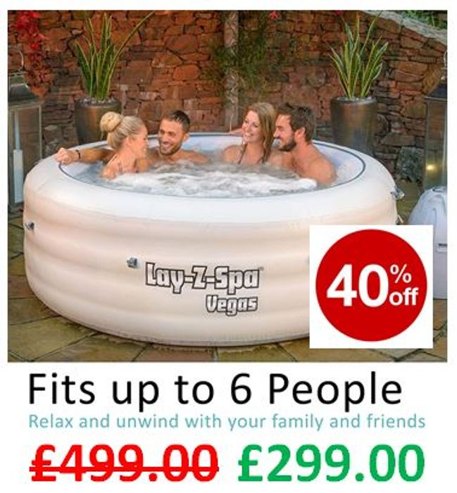 SAVE £200 - Lay-Z-Spa Vegas Hot Tub with Airjet Massage System