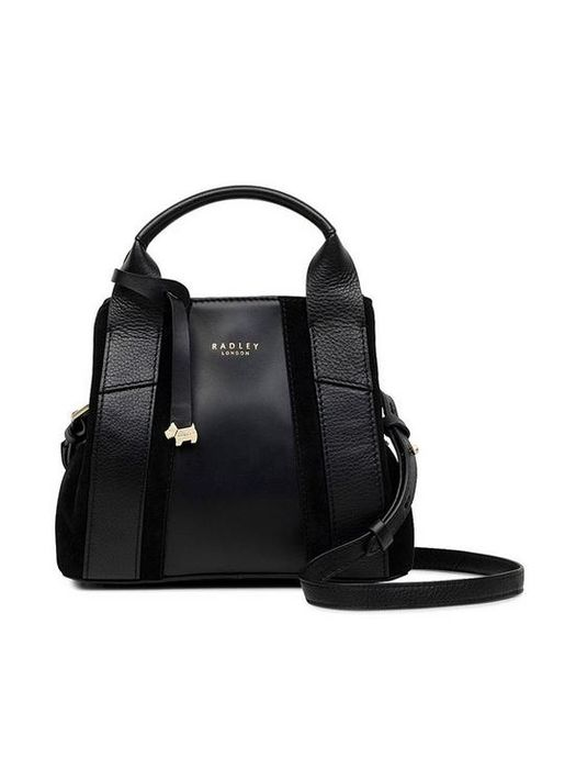 *SAVE £40* Radley Baylis Road Suede Mini Grab Multiway Bag - Black