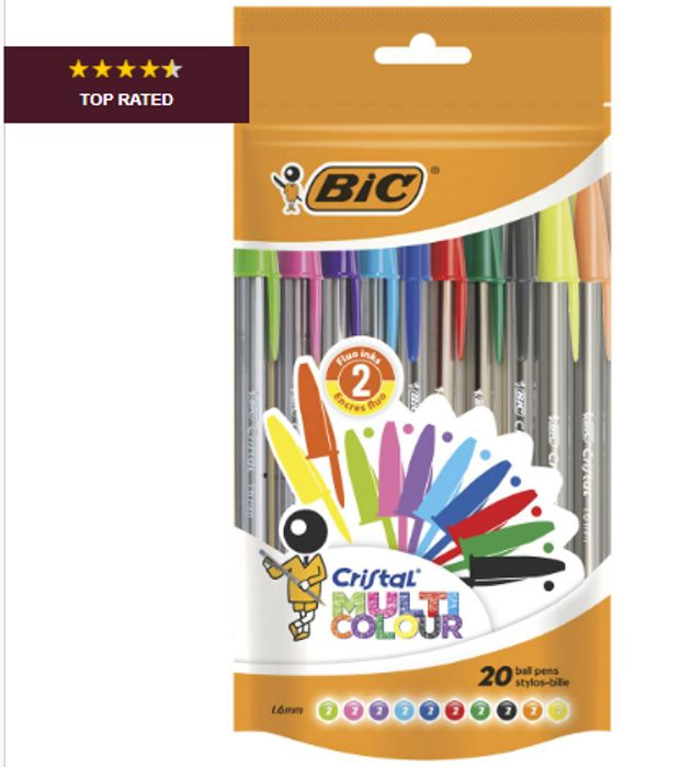 BIC Cristal Multi-Colour Ballpoint Pens 20 Pack