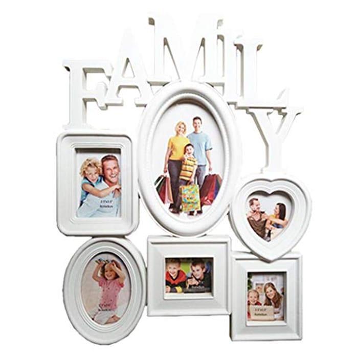 Family White Photo Frame Multiple Photos