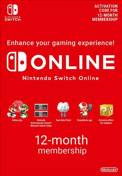 Best Price Nintendo Switch Online 12 Month (365 Day) Membership £14.85 at Shopto